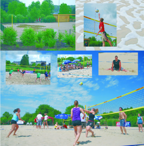 terrain beach volleyball